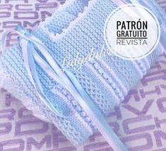 : Patrón de revista gratis 🧶 Jacket No. Baby Knitting Patterns, Crochet Patterns, Crochet Baby, Knit Crochet, Knit Baby Sweaters, Cross Stitch Baby, Jacket Pattern, Handmade Baby, Free Pattern
