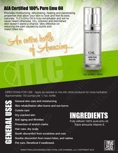 TLC's Emu Oil | 100% Pure – Total Life Changes™
