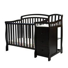 Dream Me Casco 3 in 1 Mini Crib and Dressing Table bo White