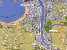 Mappa di San Sebastian - Cartina di San Sebastian