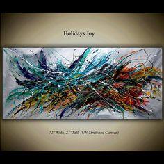 Arte de pared arte lienzo pintura al óleo por largeartwork en Etsy