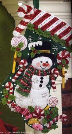 bota navideña lindisima