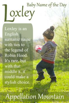 I'm a little bit in love with this Robin Hood-inspired Baby Name of the Day. I'm a little bit in love with this Robin Hood-inspired Baby Name of the Day. If you love names ending with -ley, the letter x, and . names 2019 names 2020 Cool Boy Names, Cute Baby Names, Kid Names, Rare Baby Girl Names, Names Girl, Names With Nicknames, Baby Boys, Carters Baby, Gender Neutral Names