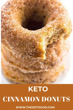 These Keto Cinnamon donuts are very simple and easy to make, but are so delicious. You can store these donuts in the r Cinnamon Donuts, Apple Cider Donuts, Cinnamon Bread, Low Carb Donut, Low Carb Keto, Low Carb Recipes, Keto Donuts, Donuts Donuts, Snacks To Make