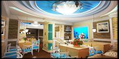 Рыбный ресторан на Дерибасовской: интерьер, эклектика, ресторан, кафе, бар, 100 - 200 м2, зал #interiordesign #eclectic #restaurant #cafeandbar #100_200m2 #hall