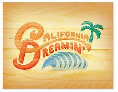 california dreamin'. wickedpaper, etsy.
