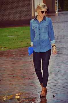 Chambray Blouse.