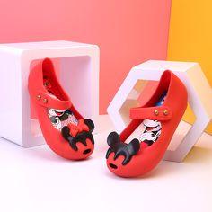 813583a5c Mini Melissa Sandalias de Las Muchachas 2018 Zapatos de La Jalea Sandalias  Impermeables Niñas Romanas Sandalias Respirables de Playa Zapatos de La  Princesa