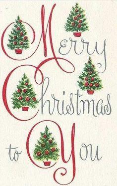 .vintage Christmas card