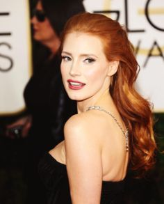 Jessica Chastain, love this polished make up look