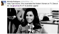 Another legend: Michelle Rodriguez shared a photo of the star from the Mary Tyler Moore Sh...