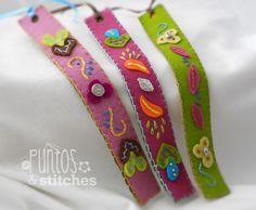 Merino wool bookmarks