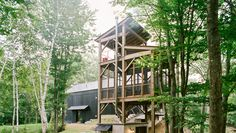 "Dwell - A Passive House and ""Sauna Tower"" Join a 19th-Century Barn in the Hudson Valley"