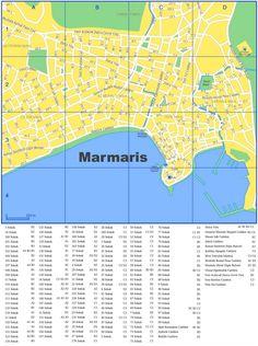 Marmaris tourist map Maps Pinterest Marmaris Tourist map and City