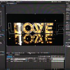#letterligths #love #texture #font #wedding #amor #c4d #madefont #madewithlove