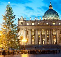 Plaza de San Pedro en Navidad (Roma), Italia