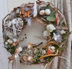 Türkranz Ostern Kleiner Vogel Kranz  von *La Isla Sun*  auf DaWanda.com