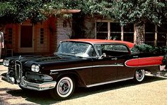 6. 1958 Edsel Corsair  ( Ford Motor Company )  Ford goes hunting for a market niche that wasn't there with a redecorated Mercury that had been beaten with an ugly stick. The legendary flop of all automotive flops.