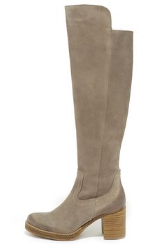 MTNG Brooke 93672 Wax Antique Silver Suede Knee-High Boots at Lulus.com!