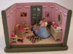1/144th scale nursery roombox