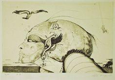 多賀新銅版画「追憶」