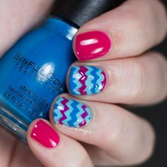 Chevron Nail Art using the SinfulColors A Class Act Back To School 2015 Collection