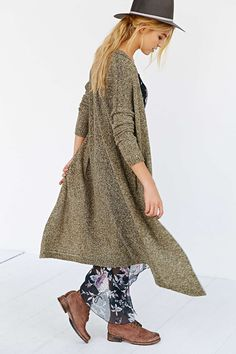 Silence + Noise Open-Front Maxi Cardigan - Urban Outfitters $79