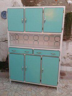 Alacena aparador armario mueble de cocina retro for Alacenas vintage