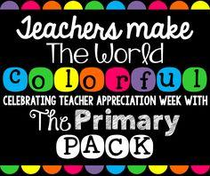 Teachers Make the World Colorful: Teacher Appreciation Week Giveaway!