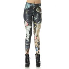 Stylish Stretchy Figure Print Leggings For Women, AS THE PICTURE, ONE SIZE in Leggings | DressLily.com