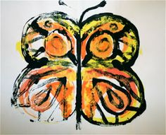 Art Project Girl: Easy Project You Can Do Tomorrow: Monarch Prints