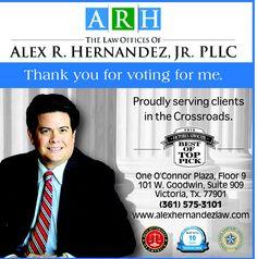 Alex Hernandez Victoria law ad