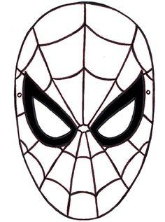 Dibujos de spiderman fotos dise os para pintar m scara for Maschera di iron man da stampare e colorare