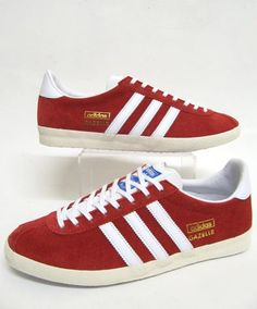 Adidas Gazelle OG Trainers in University Red/White,adidas gazelle og uni red