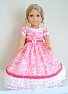 RESERVED FOR VAN, American Girl Doll Clothes, Marie- Grace, Belle of the Ball, Southern Style. $30.00, via Etsy.