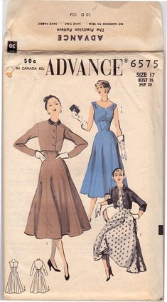 Look Good In Vintage Style Clothing 1940s Fashion, Unique Fashion, Vintage Fashion, Fashion Sewing, Vintage Vogue, 1940s Dresses, Cute Dresses, Vintage Dresses, Vintage Clothing