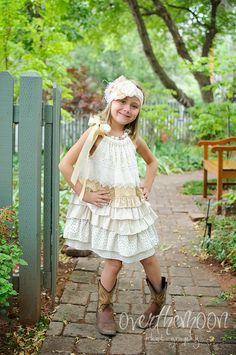 Multi Tiered Dress.. Perfect Flower Girl or Special Occasion dress .. Country Wedding .. Rustic Wedding on Etsy