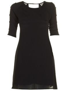 Stephanie Slit Dress Black