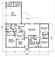 The Silver Run House Plan 5617 - 4 Bedrooms and 3 Baths | The House Designers