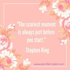 Happy Words of Wisdom Wednesday! This week's quote is from Stephen King. This guy knows scary, but I have to say for me, it's always at the 10k mark.  #WordsOfWisdomWednesday #AuthorLife #StephenKing