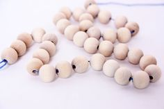 wooden beads, small unfinished wooden beads, round wood beads, raw wood beads, wooden jewelry, supply, unfinished, necklace, eco, decoupage