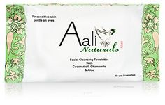 Facial Cleansing Towelettes with Coconut Oil, Chamomile & Aloe- 30 Count (Pack of 2) by Aali Naturals -- Awesome products selected by Anna Churchill