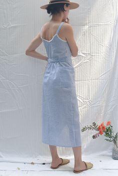 1170c7889fb Lulu Seersucker Wrap Dress - Blue Stripe
