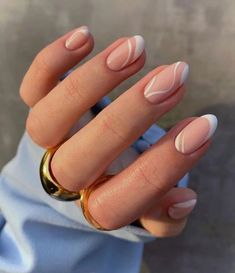 Frensh Nails, Swag Nails, Hair And Nails, Nail Manicure, Manicure For Short Nails, Short Gel Nails, Nail Polish, Nagellack Design, Acylic Nails