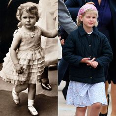 LADY LOUISE WINDSOR  Even at age 6 (in 2009), Prince Edward's little girl is a mini-me of her very famous granny, Queen Elizabeth II, who was quite the cherubic 4-year-old in a photo taken in 1930.