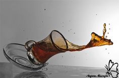 High Speed #Photography - A spilled drink feels like it's in slow motion.