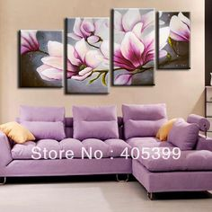 art buyers modern abstract landscape flower art deco oil paintings Home Decoration Living Room Wall Pictures pink - EverythingBuyOnline Store Flower Painting Canvas, Flower Canvas, Flower Art, Large Wall Art, Canvas Wall Art, Cherry Blossom Painting, Pink Blossom, Modern Oil Painting, Painting Art