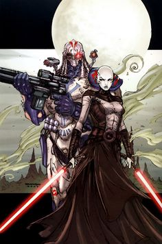 Ventress and Durge