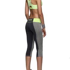 女性セクシーなジッパーポケットレギンスフィットネスカプリパンツ反射レギンススリム女性のワークアウトのズボン速乾アクティブウェア1025