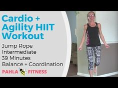 CARDIO Jump Rope HIIT | Athletic Workout for Coordination, Agility and Balance ... This is a high intensity CARDIO HIIT workout with a JUMP ROPE, designed to develop your coordination, agility and balance.  Don't have any of those yet?  No worries!  I'm still working on those skills, too. :)  This is a fun, fast-paced, athletic workout that doesn't take itself too seriously.  Find more FREE workout videos at www.PahlaBFitness.com